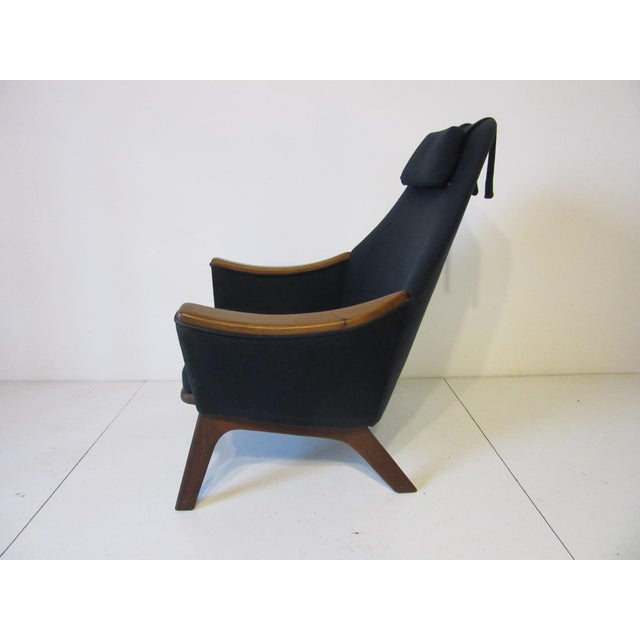 Mid-Century Modern 1960s Adrian Pearsall Upholstered Lounge Chair For Sale - Image 3 of 10