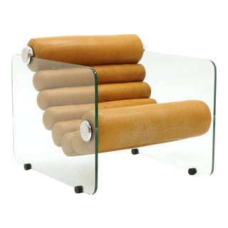Hyaline Lounge Chair by Fabio Lenci, Original Cognac Leather