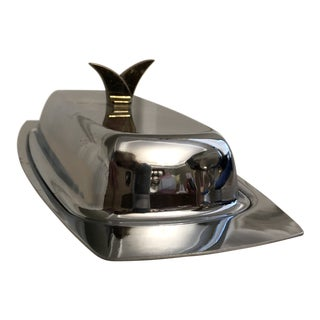 Hollywood Regency Style Butter Dish For Sale