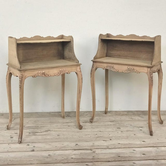 Pair Country French Provincial Nightstands For Sale - Image 13 of 13