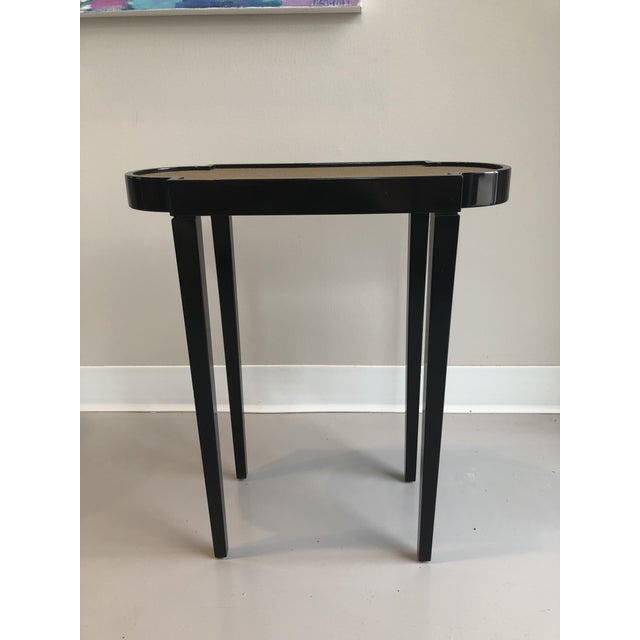 Contemporary Tricorn Black & Brown Shagreen Oomph Tini Table For Sale - Image 3 of 7