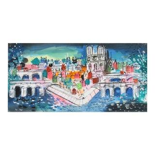"Charles Cobelle, ""Notre Dame Landscape"", Painting For Sale"