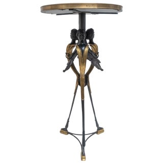 Neoclassical Bronze Gueridon Table by Maitland Smith For Sale