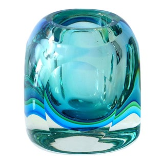 Murano Blue Green Orb For Sale