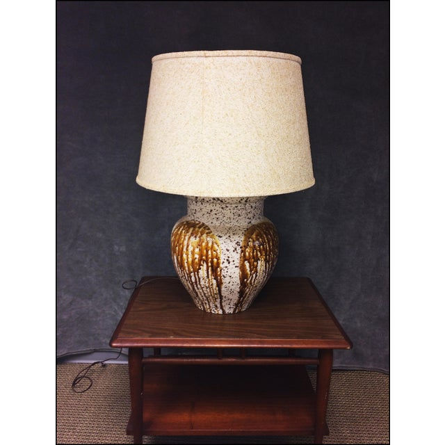 Mid-Century Modern Art Pottery Table Lamp - Image 2 of 11