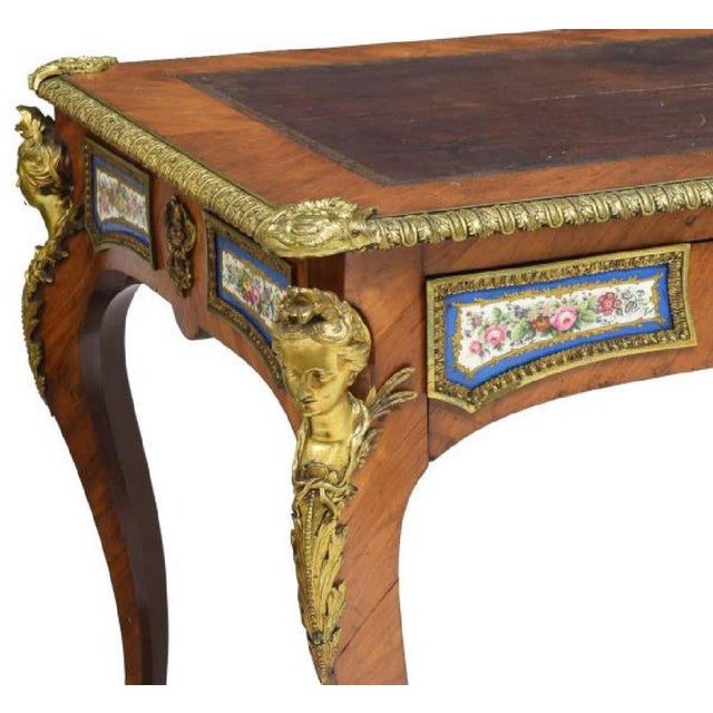 Louis XV Style Sèvres Mounted Bureau Plat, 19th Century For Sale - Image 12 of 13
