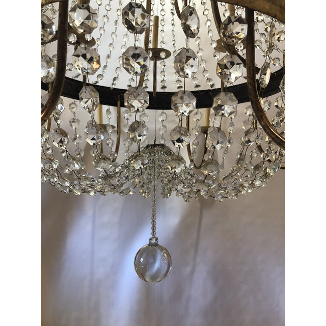 1990s Vintage French Gilt and Crystal 24 Arm Chandelier For Sale - Image 5 of 13