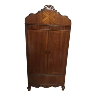 20th C. Wood Wardrobe
