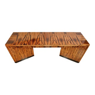 Macassar Ebony Art Deco Style Designer Console Table Custom Made by Vaughan Benz For Sale