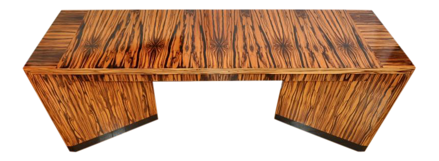 Macassar Ebony Art Deco Style Designer Console Table Custom Made By Vaughan  Benz   Image 1