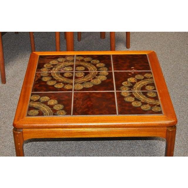 Teak & Tile Coffee Table C.1970 - Image 6 of 8