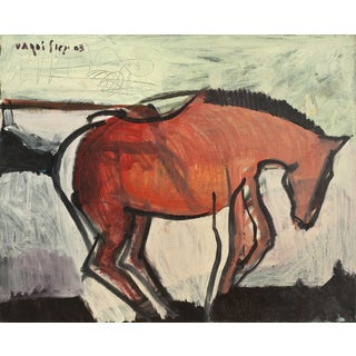 """Igal Vardi """"A Horse"""" Acrylic on Canvas Painting For Sale"""