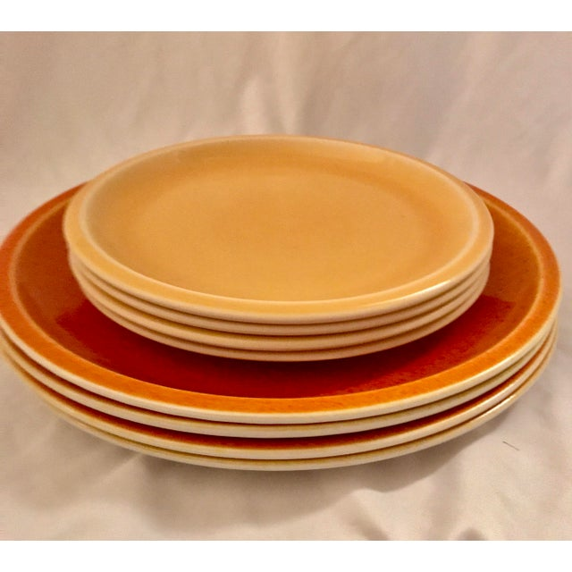 Jars of France Orange Dinner Plates & Yellow Salad Plates - 8 Pieces - Image 3 of 8
