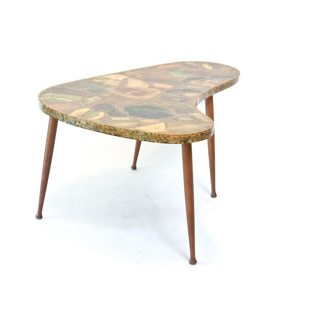 1950s Italian Modern Specimen Marble, Resin and Walnut Low Table, Aldo Tura For Sale - Image 5 of 10