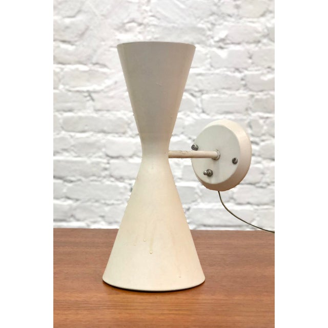 Vintage Mid-Century Gotham Lighting Diabolo Style Wall Sconce For Sale - Image 9 of 9