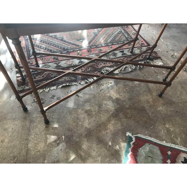 Tomlinson Walnut Mid-Century Tray Table For Sale - Image 9 of 9