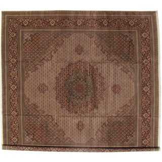 Pasargad N Y Persian Tabriz Lamb's Raj Silk & Wool Rug - 16′6″ × 16′9″ For Sale