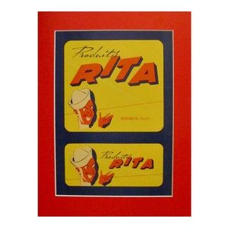 1920s Original French Food Advertisement, Produits Rita For Sale