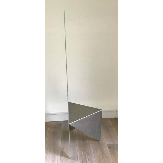 1980s Cut Steel Architectural Chair For Sale - Image 5 of 6