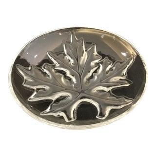 Lalique Crystal Glass Oak Leaf Plate For Sale