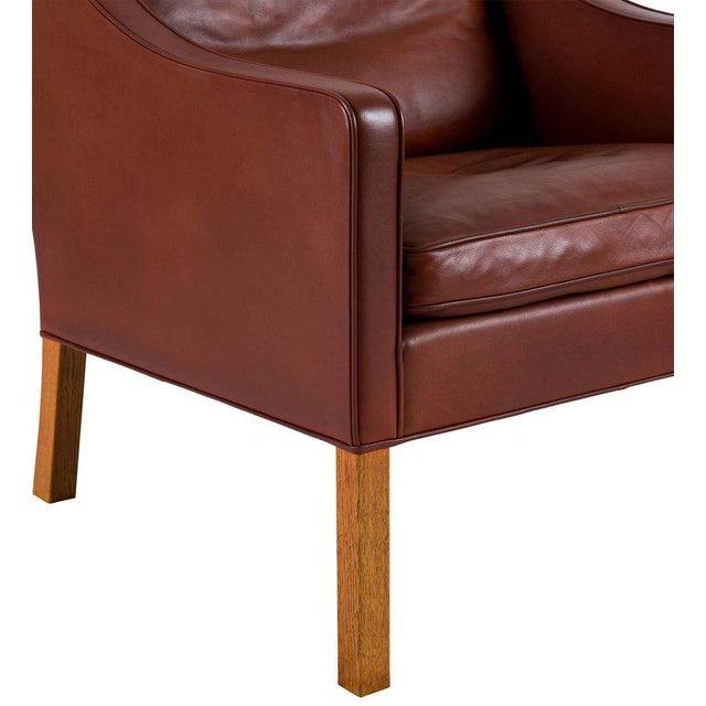 Børge Mogensen Model #2207 Leather Lounge Chair For Sale - Image 9 of 10