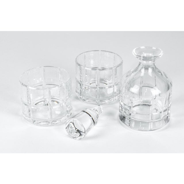 Cut Crystal Three Pieces Drinks Decanter For Sale - Image 9 of 10