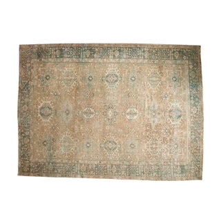 "Vintage Distressed Karaja Carpet - 7'11"" X 10'9"""