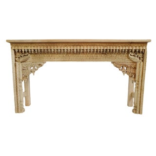 Raw Architectural Console Table For Sale
