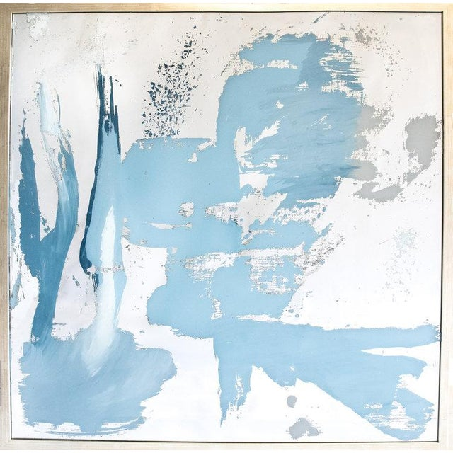 Glass Stacy Milburn, 'Coastal Prominence I I' Painting , 2018 For Sale - Image 7 of 7
