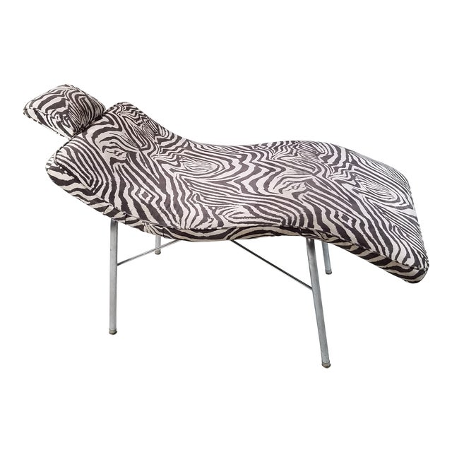 Vintage Scupltural Chaise Lounge - Image 1 of 6