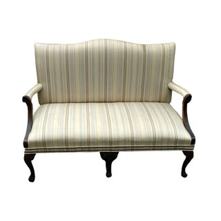 1980s Vintage Statesville and Ross Chippendale Settee For Sale