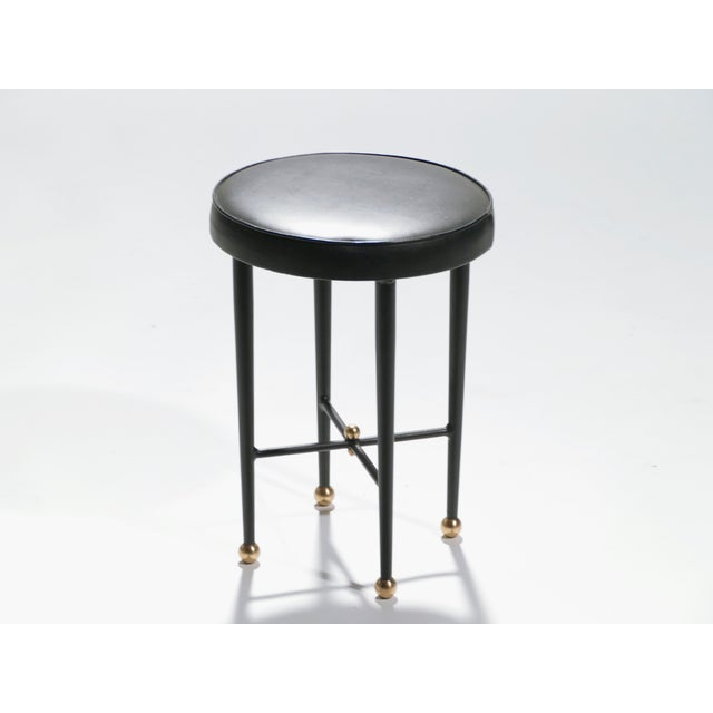 Jacques Adnet Leather Desk Vanity With Stool, 1940s For Sale - Image 11 of 13