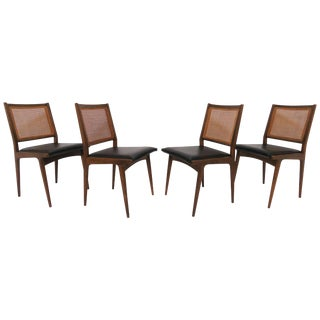 Set of Four Swedish Dining Chairs in the Style of Carlo De Carli, Circa 1960s For Sale