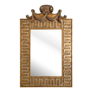 Vintage Hollywood Regency Greek Key Mirror For Sale