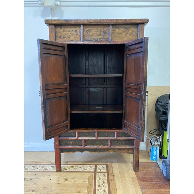 Chinese Late 19th Century Chinese Lacquered Armoire For Sale - Image 3 of 9