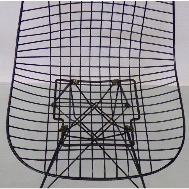 Charles and Ray Eames for Herman Miller DKR wire chairs on Eiffel tower bases. Assembled set meaning the four did not...