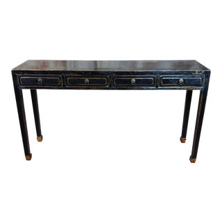 Ebonized Antique Chinese Console Table For Sale