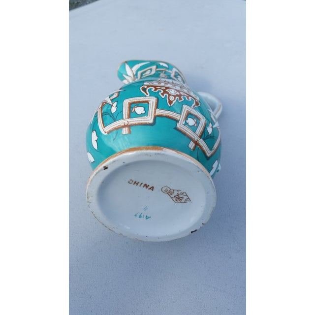 Amazing 19th C. Chinese Export Pitcher in Tiffany Blue - for the English Market For Sale - Image 6 of 7