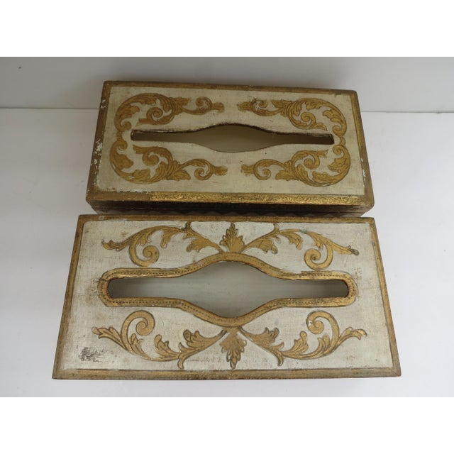 Florentine Tissue Boxes - A Pair - Image 6 of 6