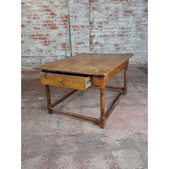 19th Century 19th Century English Walnut Farm Coffee Table For Sale - Image 5 of 10