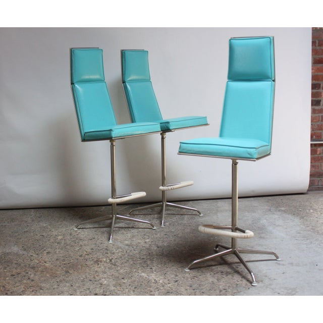 Set of Three American Modern High-Back Barstools by Jansko For Sale - Image 13 of 13