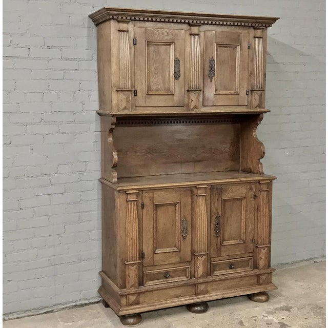 19th Century Rustic Dutch Oak Two-Tiered Buffet For Sale - Image 13 of 13