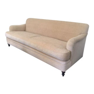 Custom Made Traditional Style Chenille Sofa Down Wrapped Bench Cushion