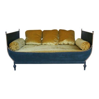 French Neo Classical Style Sleigh Bed For Sale
