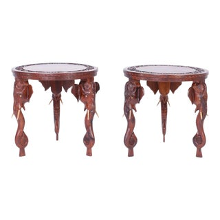 Anglo-Indian Rosewood Tables or Stands - A Pair For Sale