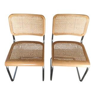 1920s Vintage Cesca/Breuer Poland Chrome Gfm Early Thonet B32 Model Cantilever Chair Set - Pair For Sale