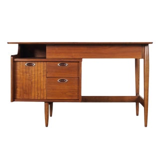 "Mid Century Walnut ""Mainline"" Desk by Hooker For Sale"