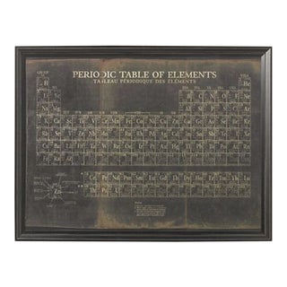 Restoration Hardware Framed Periodic Table of Elements Artwork For Sale
