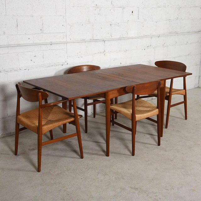 Danish Modern Teak Square to Rectangle Dining / Game Table For Sale In Washington DC - Image 6 of 7