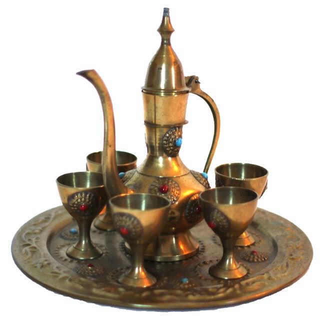 Vintage Middle Eastern Tea Set - Image 1 of 5